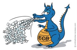 ECB continues to print money