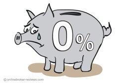 Zero percent on savings accounts